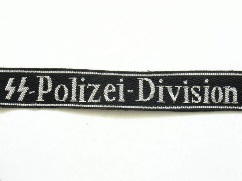 WW2 German Waffen-SS Polizei Division Cuff Titles