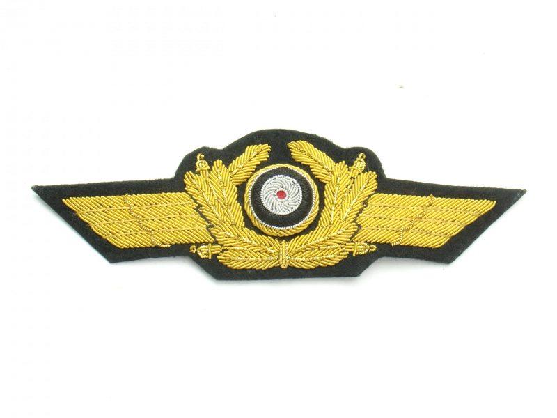 WW2 German Luftwaffe Gold Cap Wreath & Cockade