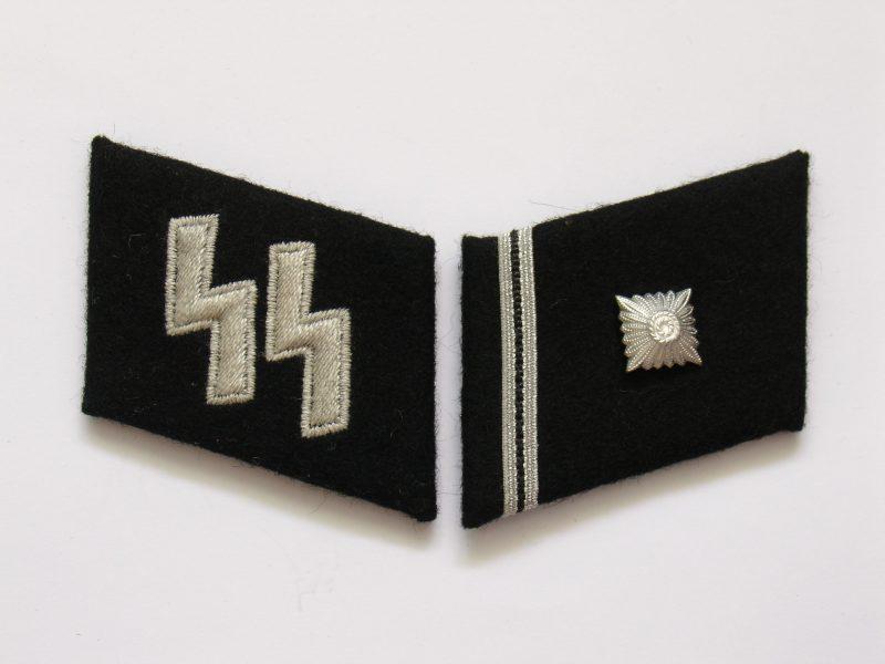 WW2 German Waffen-SS Scharführer (Staff Sgt.) Collar Tabs