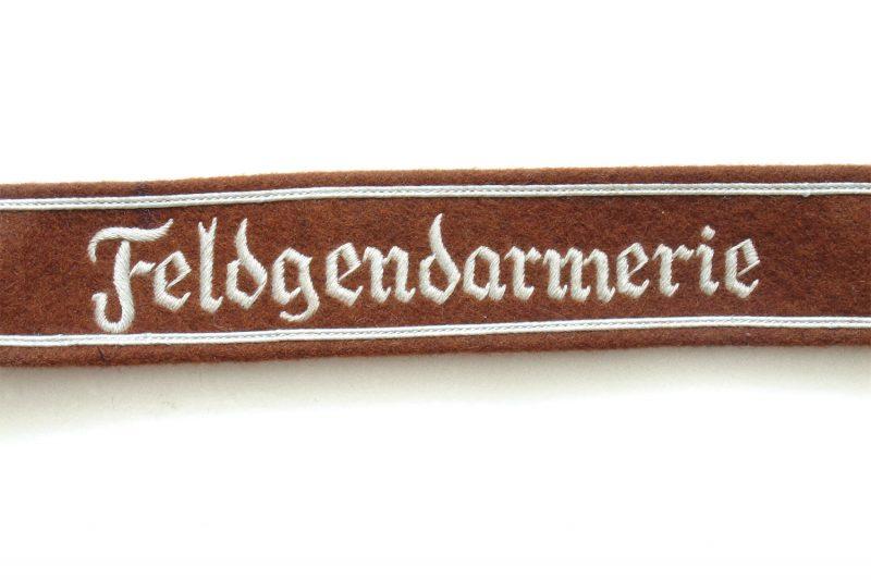 WW2 German Heer Feldgendarmerie cuff title (Grey tread)