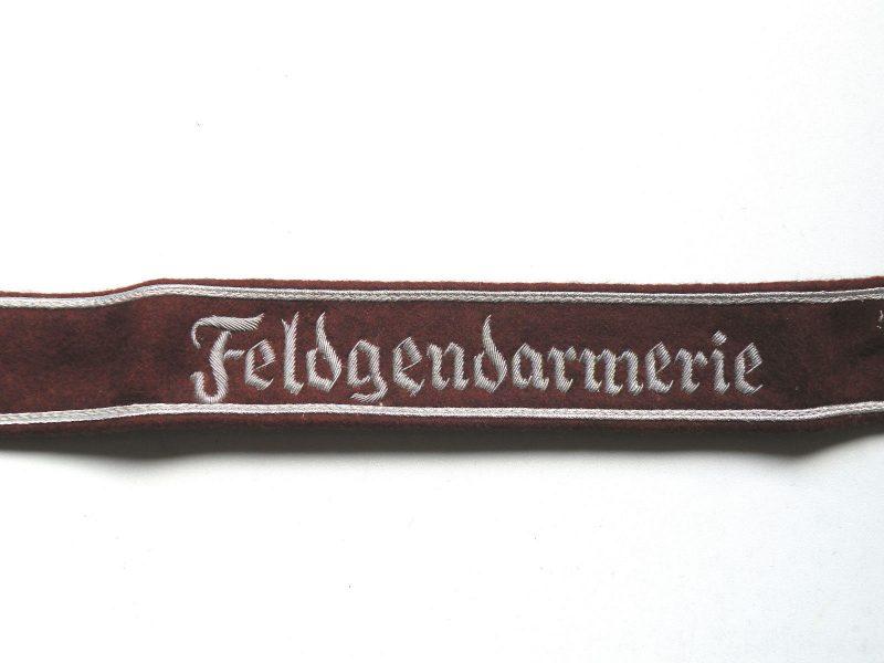 WW2 German Heer Feldgendarmerie cuff title (Bullion tread)