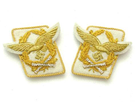 WW2 German Luftwaffe General fieldmarschall Collar Tabs After 1942