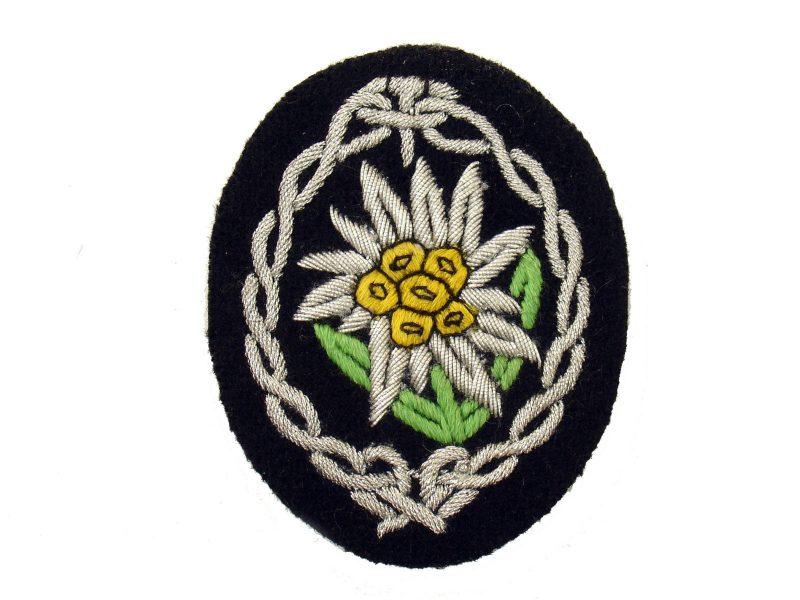 WW2 German Officer's Sleeve Edelweiss Patch