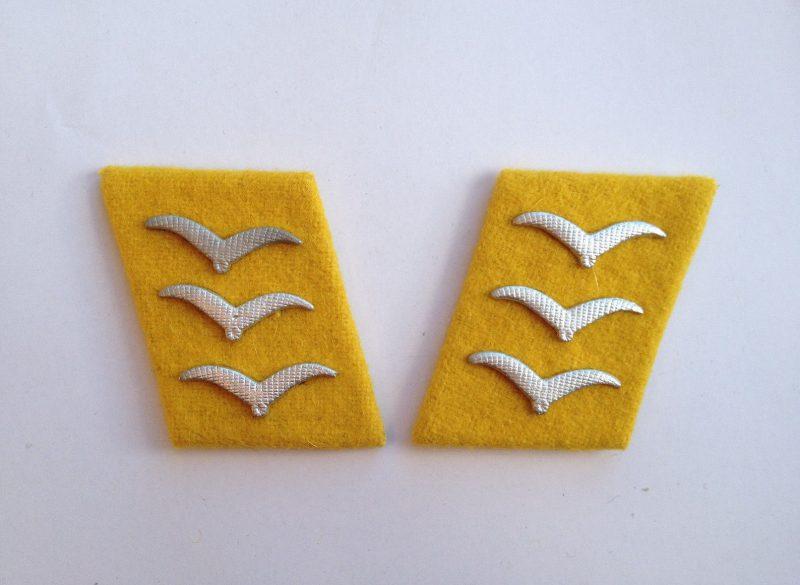 WW2 German Luftwaffe Obergefreiter Collar Tabs