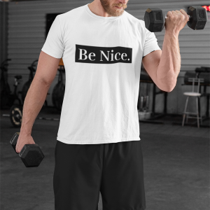Be Nice. Unisex Heavy Cotton Tee