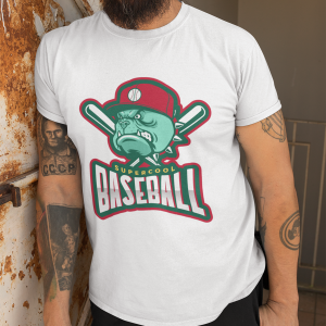 Baseball Bulldog Unisex Heavy Cotton Tee