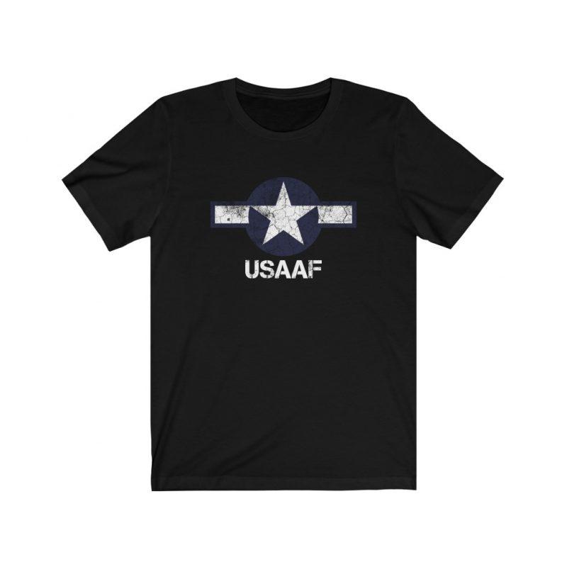 WW2 USAAF Emblem in Distress Effect Unisex Jersey Short Sleeve T Shirt
