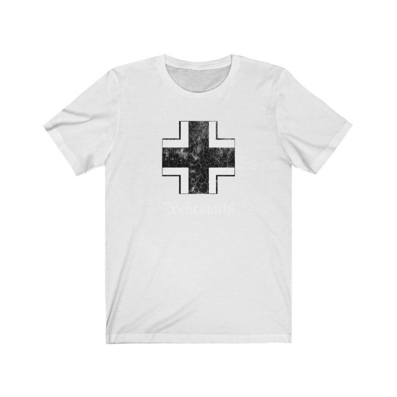 WW2 German Wehrmacht Emblem Distress Effect Unisex Jersey Short Sleeve T Shirt