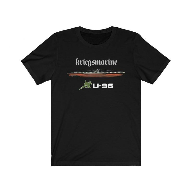 ww2 German Kriegsmarine U-boat Submarine U-96 Unisex Jersey Short Sleeve T Shirt