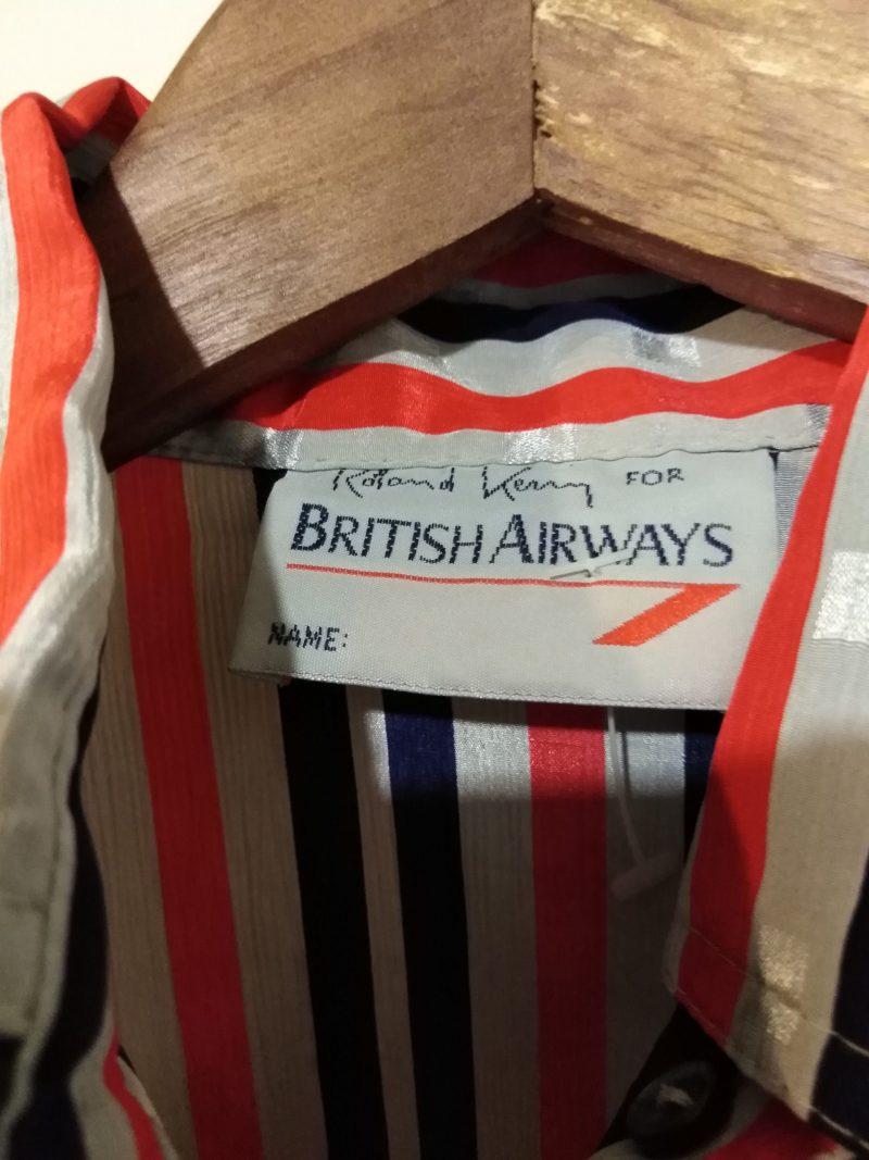 Vintage British Airways Flight Attendant Stewardess Uniform with Belt (B1)