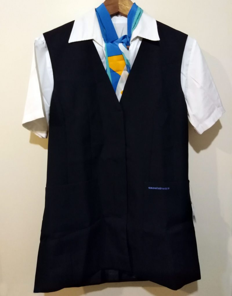 Vintage Excel Airways Flight Attendant Stewardess Uniform
