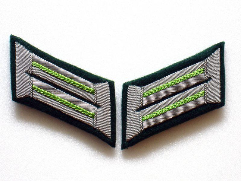 WW2 German Heer Jäger Officer Collar Tabs